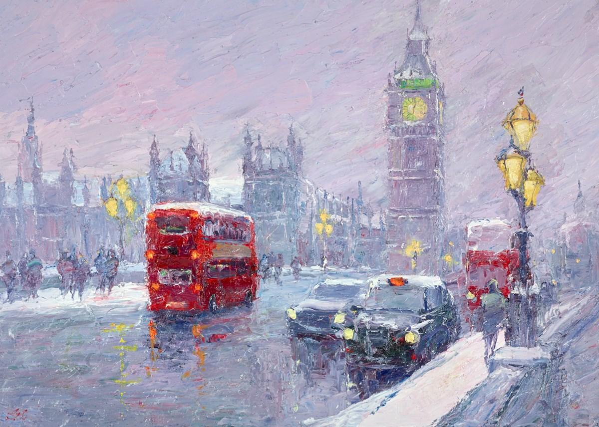 Snow, Great George Street, London